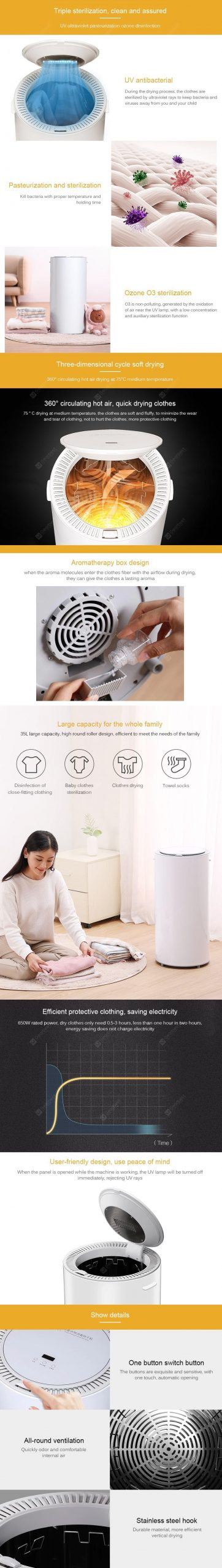 Mi Xiaolang Smart Clothing Disinfection Dryer 14L