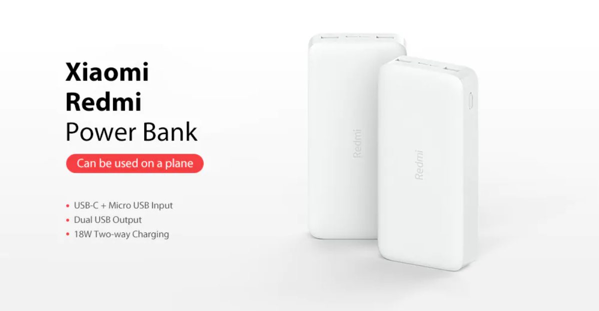20000mAh Redmi 18W Fast Charge Power Bank