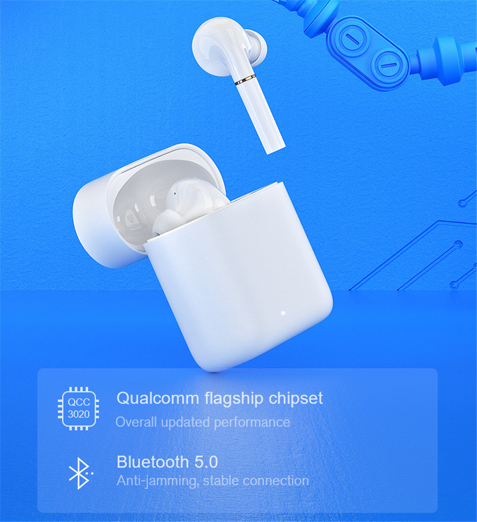 New BT5.0 technology and Qualcomm flagship chipset, low power consumption and ultra fast conenction. In-ear wear infrared detection, auto play/ stop song when wearing/ take out the earbuds One-step fast -up connection customized by APP Qualcomm Flagship Chipset, support aptX HD / AAC Decoding for restoring sound details. High-medium-low bass, balanced three frequency makes pure and HD sound quality. Support +, Qualcomm Patented Technology, Binaural Synchronous Transmission Wireless Charging + Type-C Wired Charging Simple tap operation for control, call answer/ up and sond switching, etc. Master-slave switch, single/ double earbuds for random use Offer 30H Long Endurance With Charging Case Dual microphones with noise reduction technology are designed on the each side of earbuds.