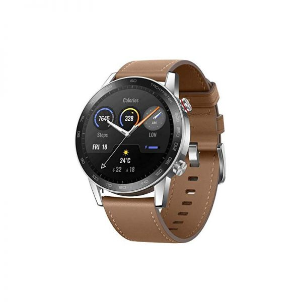 Supported Application Fitness Tracker, Email, Messages, Phone, Alarm, Calendar, GPS, Heart Rate Monitor Brand Honor Wireless Communication Standard Bluetooth Color Flax Brown Connectivity Technology Bluetooth, USB, GPS Band Color Brown Human Interface Input Microphone Screen Size 46 Millimeters Water Resistance Level Waterproof Band Width 46 Millimeters